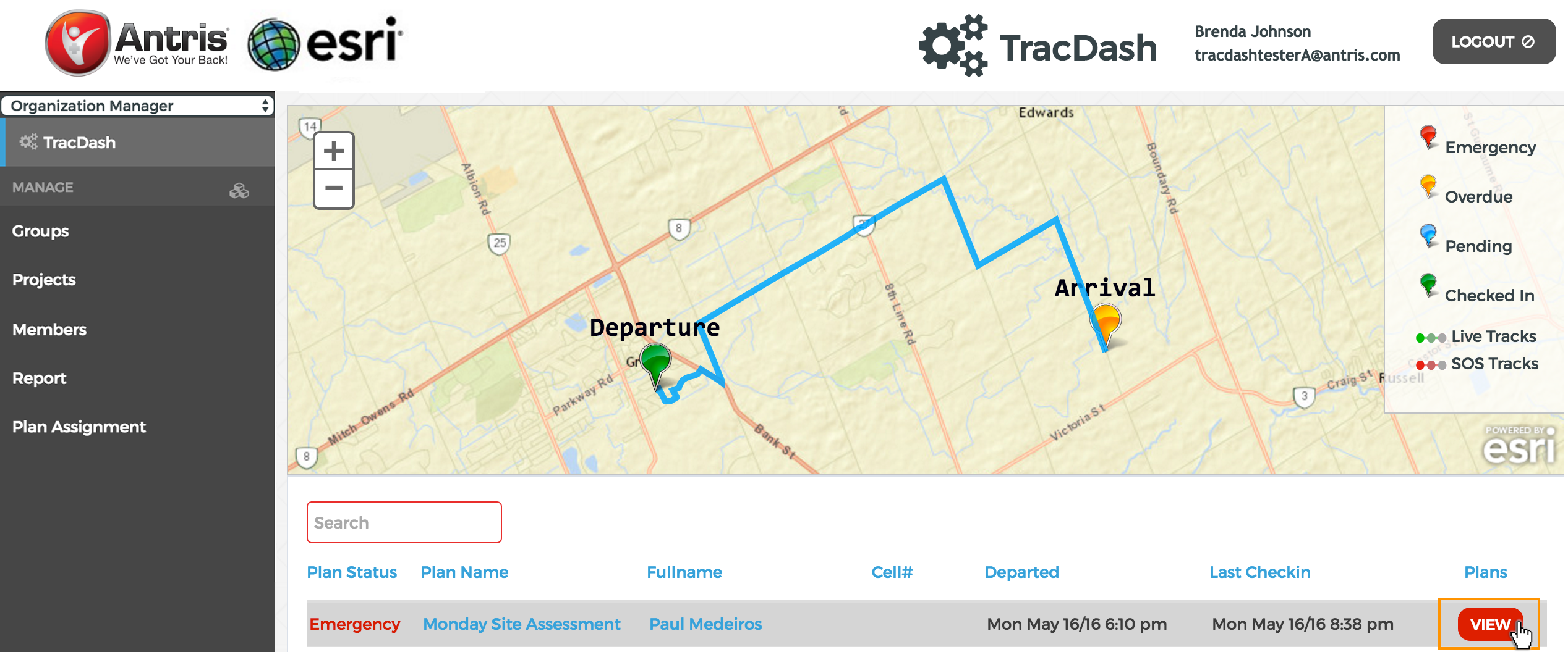 Trac Dash Map